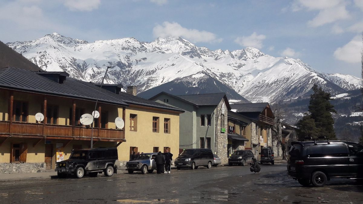 Mestia, our base for the ski tour
