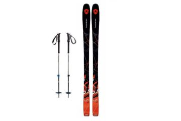Advanced Skis and poles