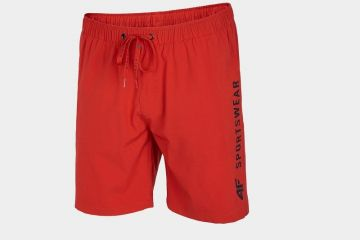 4F MEN'S BEACH SHORTS RED