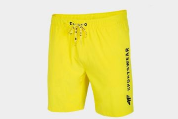 4F MEN'S BEACH SHORTS YELLOW