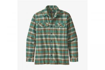 PATAGONIA Men's Long-Sleeved Fjord Flannel Shirt EELGRASS GREEN