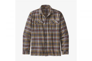 PATAGONIA Men's Long-Sleeved Fjord Flannel Shirt FORGE GREY