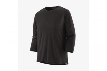 PATAGONIA Men's Merino 3/4-Sleeved Bike Jersey Black