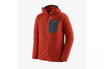 PATAGONIA Men's R1® Air Full-Zip Hoody Hot Ember