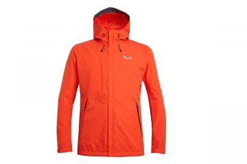 SALEWA PUEZ CLASTIC POWERTEX 2 LAYERS HARDSHELL MEN'S JACKET ORANGE