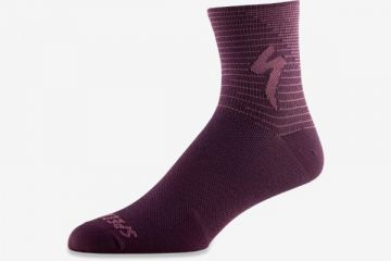 SPECIALIZED SOFT AIR ROAD MID SOCK CAST BERRY / DUSTY LILAC ARROW